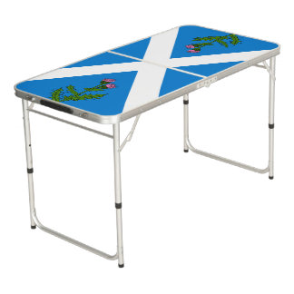 Scottish thistle pong table