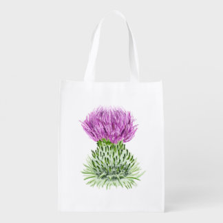 Scottish Thistle Reusable Grocery Bag