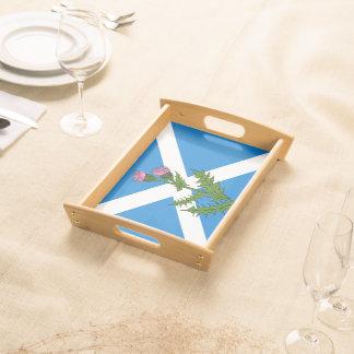 Scottish thistle serving tray