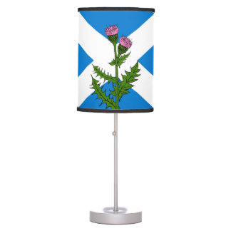 Scottish thistle table lamp