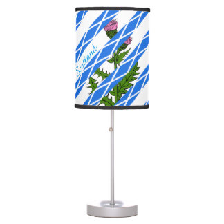 Scottish thistle table lamp