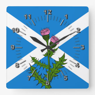 Scottish thistle wallclocks