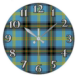 Scottish Time Accents Clan Bell Tartan Wall Clocks