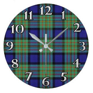 Scottish Time Accents Clan MacLaren Tartan Large Clock