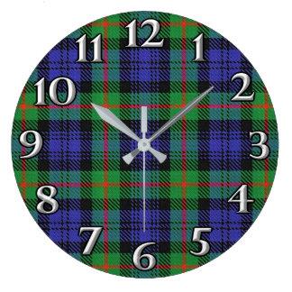 Scottish Time Accents Clan Murray Tartan Large Clock