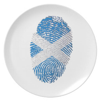 Scottish touch fingerprint flag plates