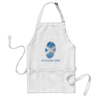 Scottish touch fingerprint flag standard apron