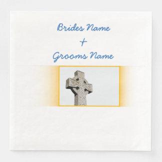 Scottish-Wedding-Celtic-Cross Disposable Napkin