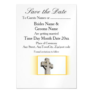 Scottish-Wedding-Celtic-Cross Magnetic Card