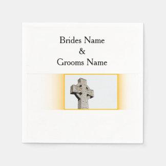 Scottish-Wedding-Celtic-Cross Paper Napkin
