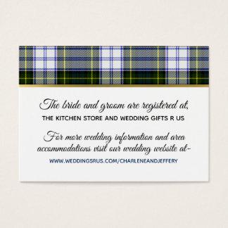 Scottish Wedding Gorden Dress Information Card
