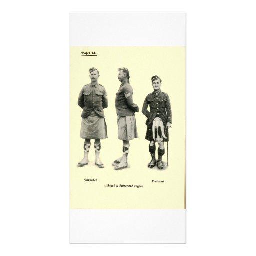 Scottish World War I Uniforms Photo Greeting Card