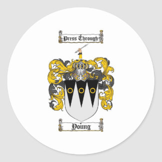 Scottish Young Coat of Arms Stein - Family Crest Classic Round Sticker