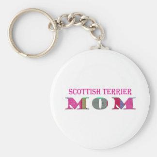 ScottishTerrierMom Basic Round Button Keychain