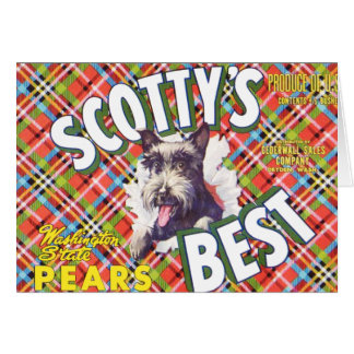 Scotts Best Pears - Fruit Crate Label Card