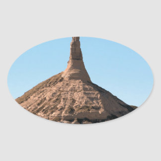 Scottsbluff Nebraska Chimney Rock Spire Oval Sticker