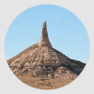 Scottsbluff Nebraska Chimney Rock Spire Round Sticker