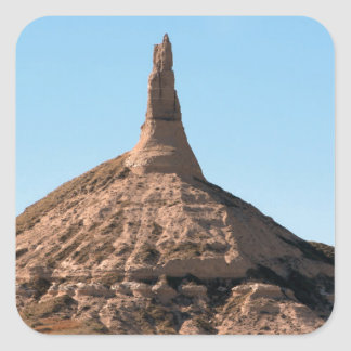 Scottsbluff Nebraska Chimney Rock Spire Square Sticker