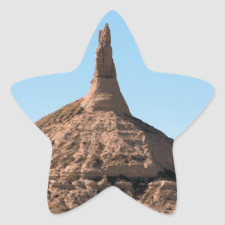 Scottsbluff Nebraska Chimney Rock Spire Star Sticker