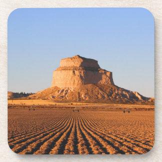 Scottsbluff Nebraska Farming Harvest Fall Sunset Beverage Coaster