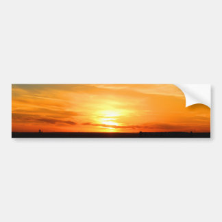 Scottsbluff Nebraska Farming Harvest Fall Sunset Bumper Sticker