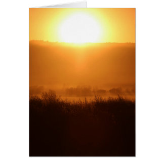 Scottsbluff Nebraska Farming Harvest Fall Sunset Card