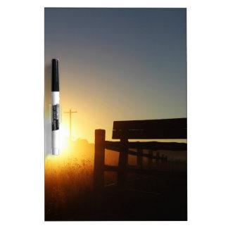 Scottsbluff Nebraska Farming Harvest Fall Sunset Dry Erase Board