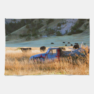 Scottsbluff Nebraska Farming Harvest Fall Sunset Kitchen Towels