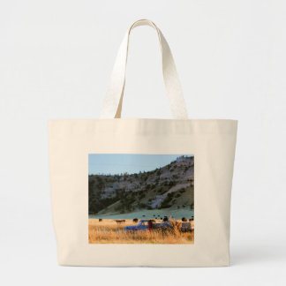 Scottsbluff Nebraska Farming Harvest Fall Sunset Large Tote Bag