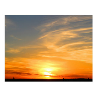 Scottsbluff Nebraska Farming Harvest Fall Sunset Postcard