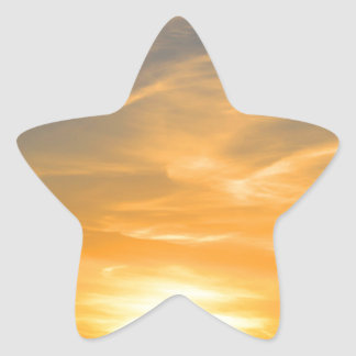 Scottsbluff Nebraska Farming Harvest Fall Sunset Star Sticker