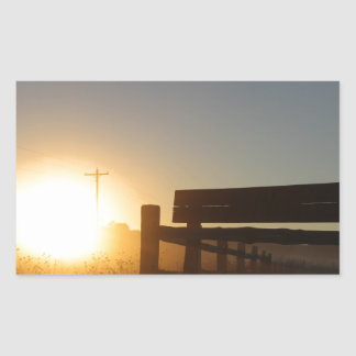 Scottsbluff Nebraska Farming Harvest Fall Sunset Sticker