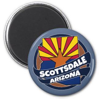 Scottsdale Arizona flag burst magnet