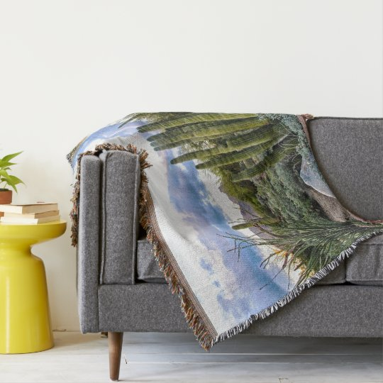 Scottsdale Succulent Sunset Throw