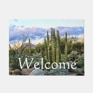 Scottsdale Succulent Sunset, welcome Doormat