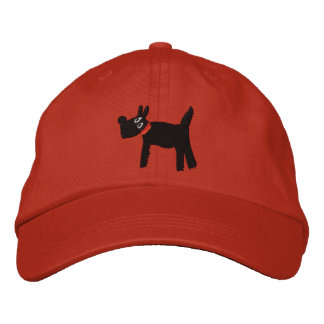 Scotty Dog red cap by artist John Dyer Embroidered Hat