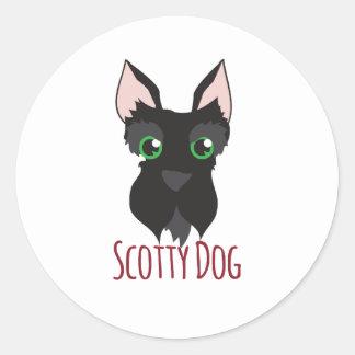 Scotty Dog Round Sticker