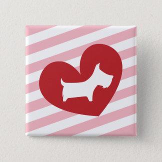 Scotty Valentine 2 Inch Square Button