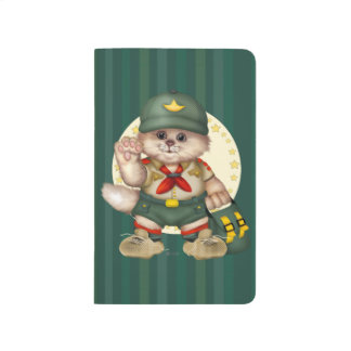 SCOUT CAT CARTOON Pocket Journal  Blank