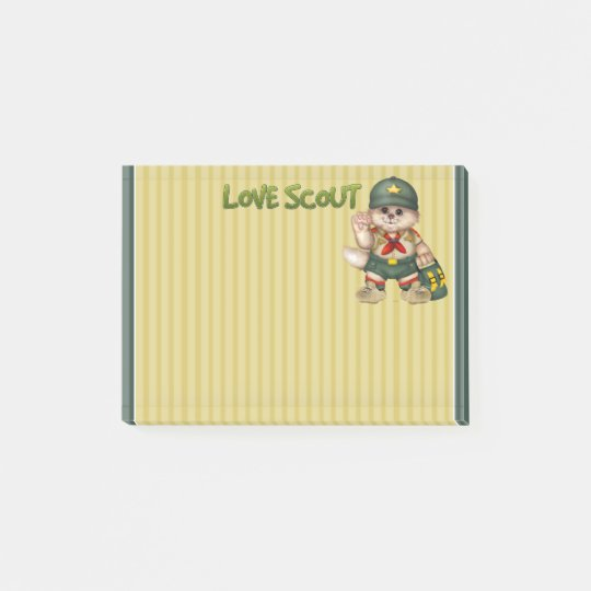SCOUT CAT  CUTE Post-it® Notes 4 x 3