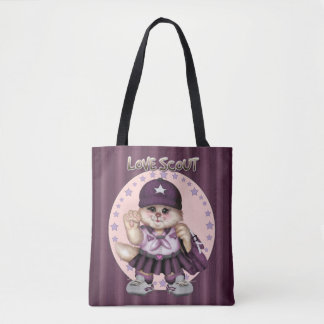 SCOUT CAT GIRL All-Over-Print Tote Bag MEDIUM