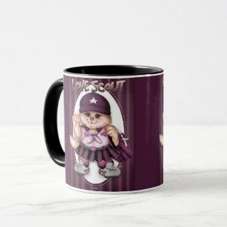 SCOUT CAT GIRL CUTE FUN Combo Mug 11 onz