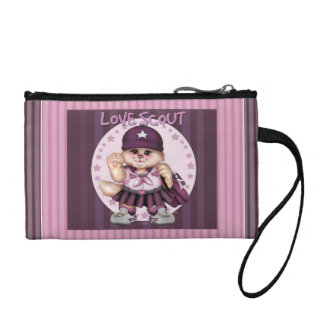 SCOUT CAT GIRL Key Coin Clutch Coin Purses
