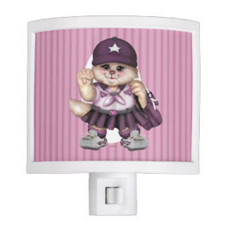 SCOUT CAT GIRL LOVE Night Light