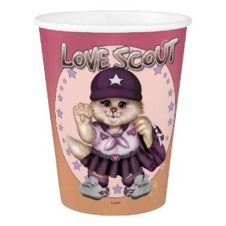 SCOUT CAT GIRL LOVE  PAPER CUP