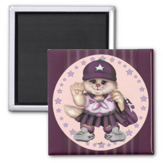 SCOUT CAT GIRL LOVE SQUARE Magnet  Standard