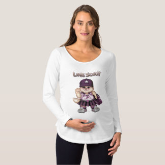 SCOUT CAT GIRL Maternity Long Sleeve T-SHIRT