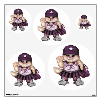 SCOUT CAT GIRL Wall Decal Circle 30 X 30 Multiple