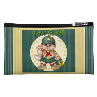 SCOUT CAT Small Sueded Medium Makeup Bag