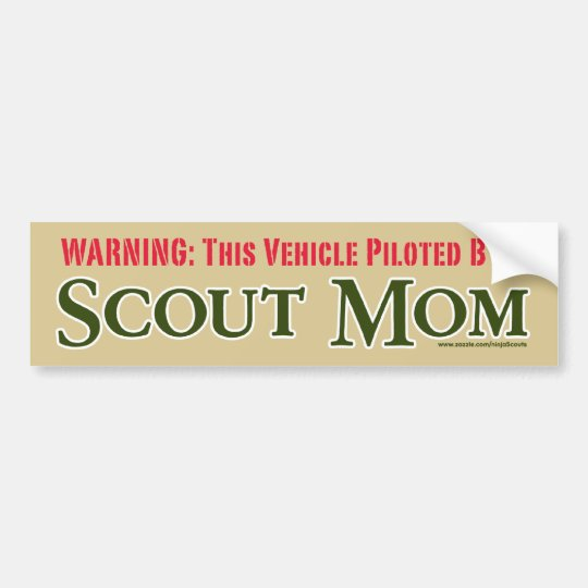 Scout Mom (tan) Bumper Sticker